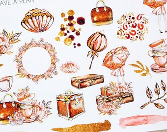 Planner Stickers Autumn Decorative for Erin Condren, Happy Planner, Filofax, Scrapbooking