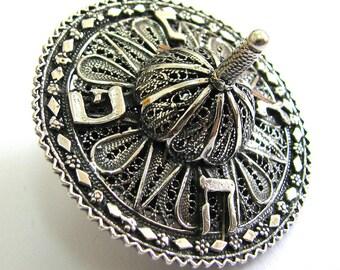Hanukkah Dreidel, 925 Sterling Silver, Filigree, Hanukkah Gift, Judaica, Hanukkah Game, Jewish Gift, Silver Dreidel, Handmade Dreidel, ID931
