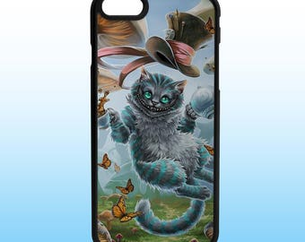 Alice Wonderland Cheshire Cat Iphone Case, Iphone 5, 6, 7, 8, X