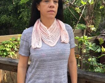 Baby Pink Crochet Neck Wrap
