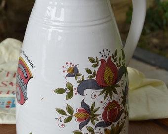 Lovely Vintage German Pottery Ceramic Water Jug Pitcher Vase
