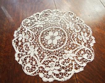Antique Lace Doiley Handmade Bobbin Lace