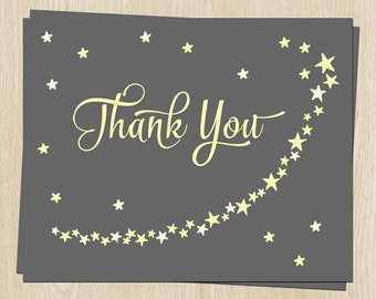 Add-on, Twinkle Stars, Yellow, Neutral, Thank You Cards - 30