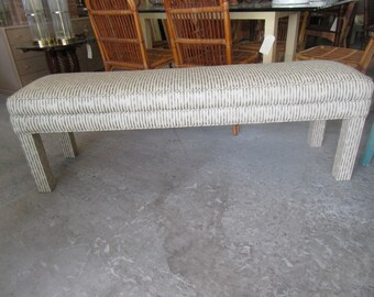 Long Upholstered Parson Style Bench