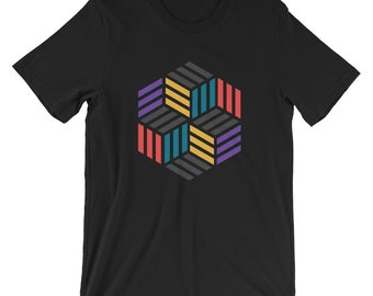 Impossible Boxes Triangle Geometry Unisex T-Shirt
