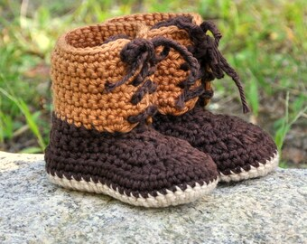 Baby Booties, Crochet Cotton Baby Boots, Winter Style Baby Boots