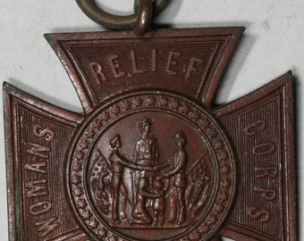1883 WOMENS Relief Auxiliaries GAR Patriotic Souvenir Medal 30mm Grand Army Republic (18051301RE)