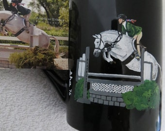 Hand Painted Personilized Original Coffee Mugs Made to Order Horse by Shannon Ivins Pigatopia