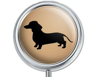 Dachshund wiener dog pill case trinket gift box