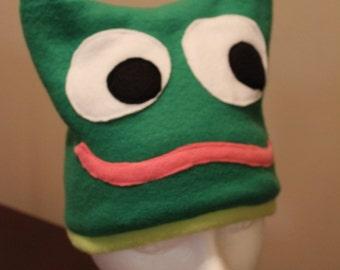 Child's Fleece Frog Hat