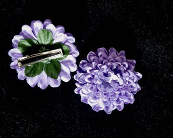 Purple Flower Barrettes, Flower Barrettes, Hair accessories, Alligator Hair Clips, Toddlers Hair Accessories, Girls Barrettes, Barrettes