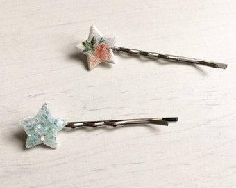 Floral and Glitter Bobby Pins, Hair Grips