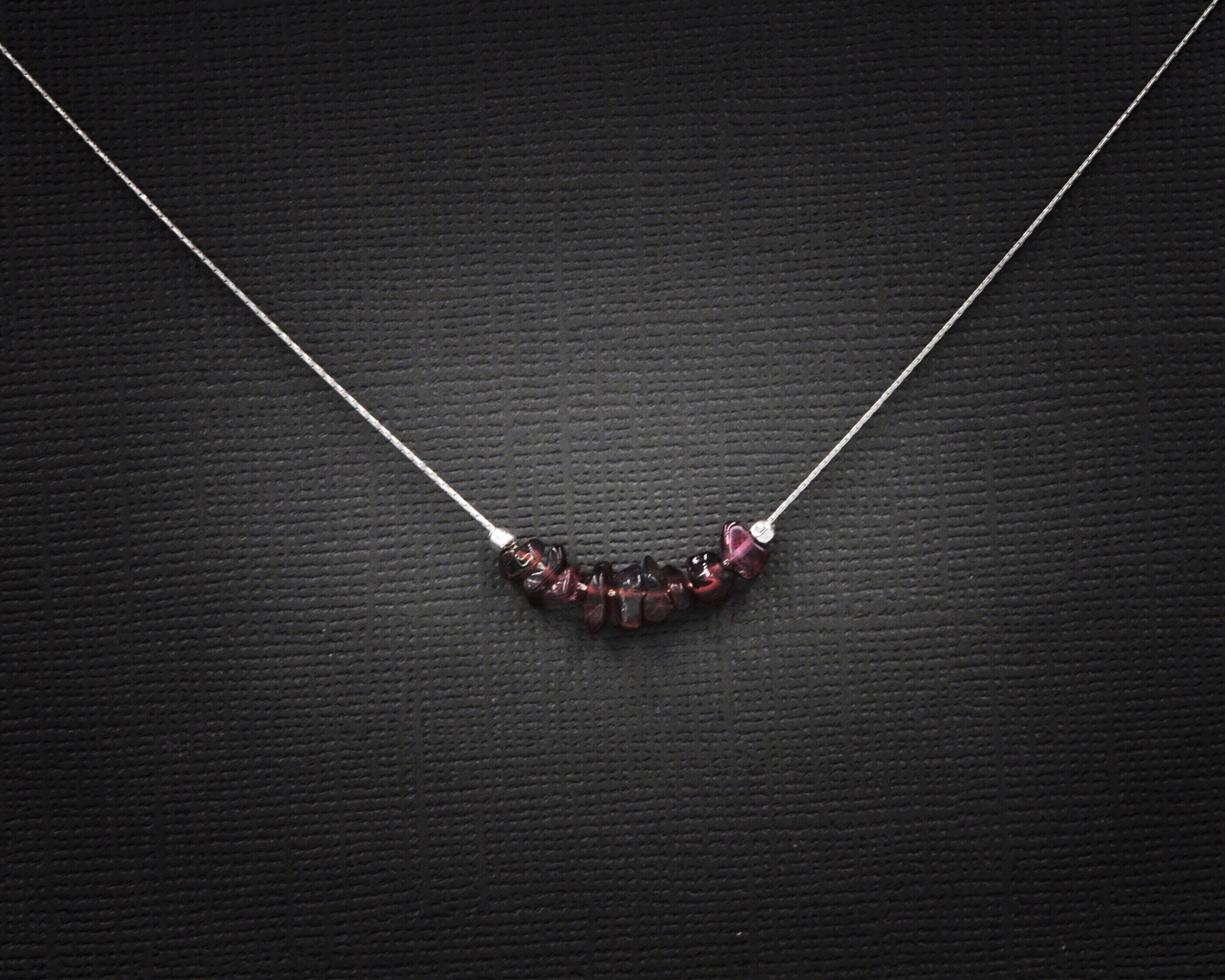 leiva red garnet necklace elements product