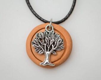 Tree of Life Zen Terracotta Diffuser Necklace