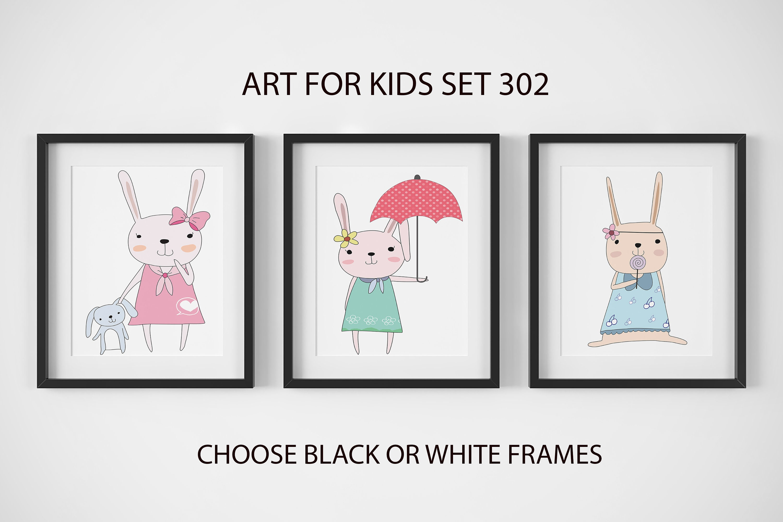 nursery decor nursery wall art framed wall art bunny prints baby