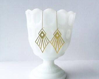 Art Deco Diamond Earrings | ATL-E-121