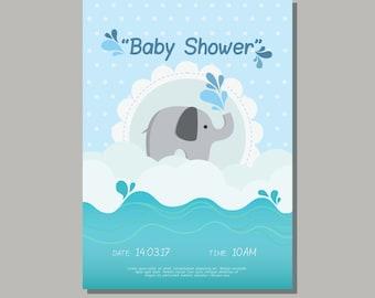 Elefanten Baby-Dusche Einladung, schöne Baby-Dusche Einladung Angebot!