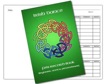Irish Dance Feis Record Book (Beginner, Novice and Prizewinner Levels) - NEW STYLE