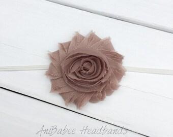 Baby flower headband, shabby flower baby headband, flower headband, baby headband, infant headband, Newborn Headband