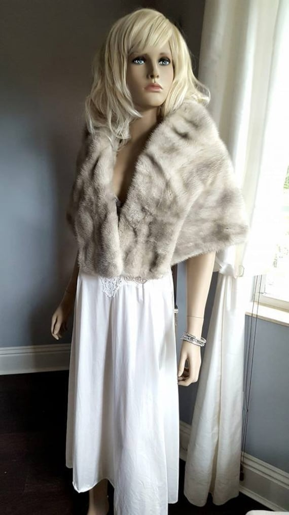 Grey Cape Stole Shawl Luxury Jacket Luxury Mink Gray Shrug Vintage Bridal Winter Wedding Silver Sapphire Fur Bridal Wrap Fur Fur Fur Mink pPaw4TqtP