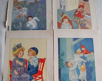 Vintage Raggedy Ann Book Illustrations, Johnny Gruelle Illustrations