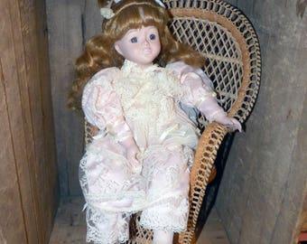 Mundia France Vintage Porcelain Doll - 1555
