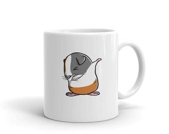 Guinea Pig Dabbing Ceramic Coffee Mug, Funny Cavy Pet Dab Gift