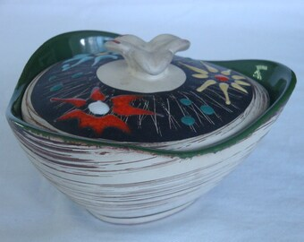 Vintage Carstens Covered Dish Bowl with Lid from West Germany