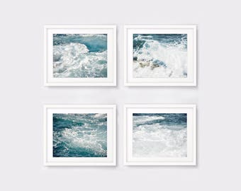 Nautical print set of 4 ocean photography, beach prints, beach decor nautical decor printable wall art digital download digital prints