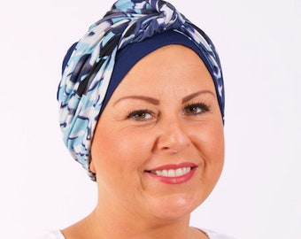 Faux Knot Turban Hat For Hair Loss|Womens chemo hat | stylish chemo headwear | turbans for cancer patients | chemo headwear | cancer hat