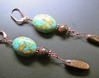 Turquoise & Twigs Earrings