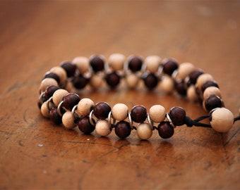 Bracelet made of wooden beads
