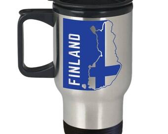 Finland Flag | Finnish Flag | Travel Mug | Finland Pride | Coffee Mug | Stainless Steel