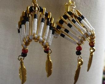 Earrings Indian headdress