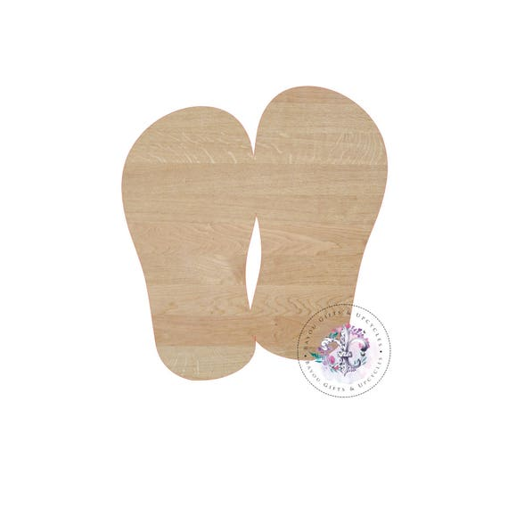 FLIP FLOPS Wooden Cutout Unfinished   Wooden Blanks, Wooden Shapes, Wooden  Wreath Shapes, Wooden Door Hangers, Shape Blanks From BayouGiftsandUpcycle  On ...