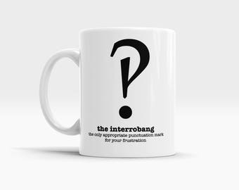 Funny Grammar Mugs for Teachers Coffee Mug Gift Ideas for Teachers Interrobang Punctuation Mugs for Writers Editors Book Lover Gifts for Her