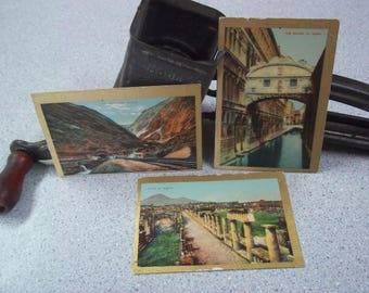 3 Tobacco Cards, Pan Handle Scrap, Sights & Scenes of the World, Early 1900's, Collectibles, Paper Ephemera, Trading Cards, Antique cards