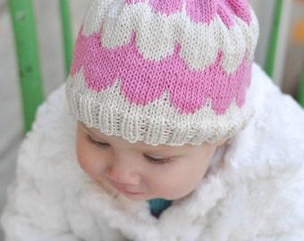 Scallop Knit Baby Hat Pattern