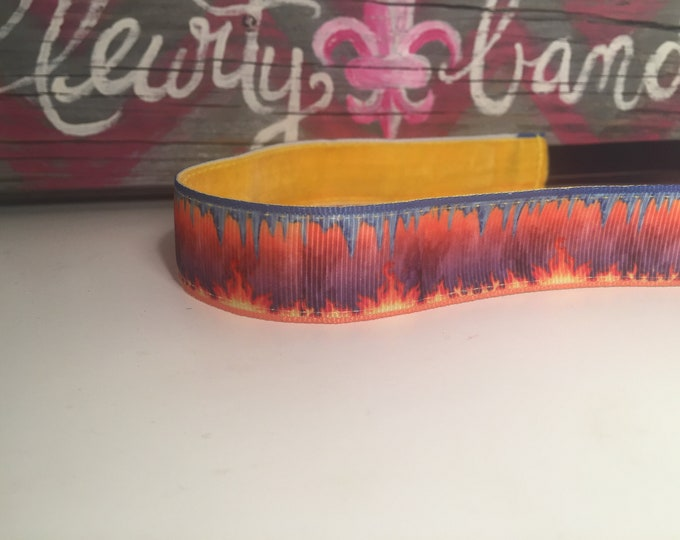 Nonslip Headband Fire and Rain