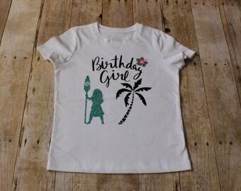 Moana Birthday Girl Shirt