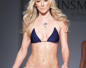 drusy body chain - body jewelry - bodychain - druzy jewelry