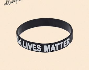 Black Lives Matter Silicone Wristband