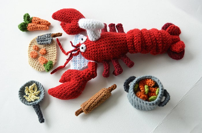 Lobster Chef Crochet Pattern Lobster Crochet Pattern Animal