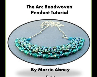 Beadweaving Tutorial - The Arc Beadwoven Pendant