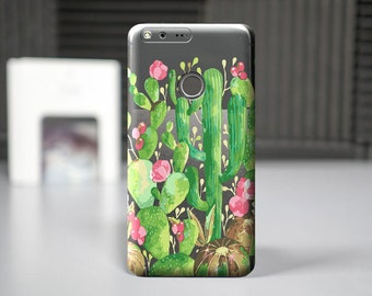 Cactus case for Google Pixel Xl, phone cases for Pixel, Google Pixel cell covers, soft clear silicone cases, Google covers, custom case