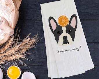 Personalized Boston Terrier Tea Towel (FREE SHIPPING), 100% Cotton Tea Towel, Boston Terrier Tea Towel, Boston Terrier Gift, Dog Tea Towel
