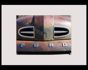 Rusty America Ford Truck Framed Photograph For Any Room ~ A4 Black Frame ~ Printed On Professional Gloss Paper ~ Smaller Photo.