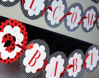 Ladybug Banner, Ladybug Printable Party, Ladybug Birthday, Ladybug Baby Shower, Ladybug Printables, Printable Banner, INSTANT DOWNLOAD