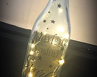 Fairy Light Bottles With Quotes