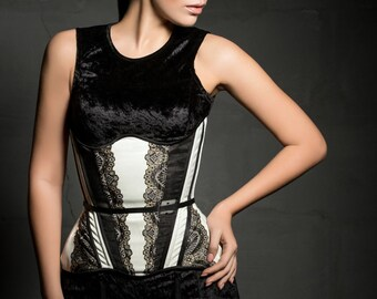 transperent underbust laced lingerie corset